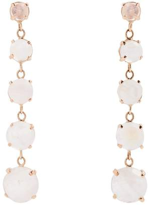 Jacquie Aiche Moonstone & rose-gold earrings