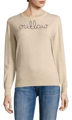 Lingua Franca Outlaw Embroidered Cashmere Sweater