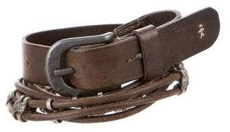 Henry Beguelin Leather Embellished Belt