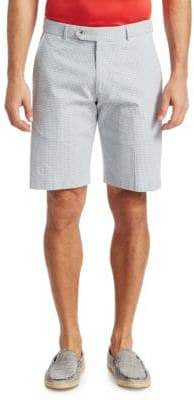 Saks Fifth Avenue COLLECTION Gingham Seersucker Shorts