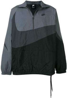 Nike Swoosh woven half-zip jacket