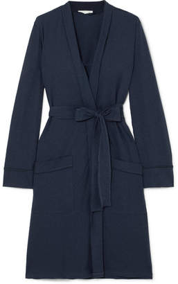 Skin - Pima Cotton Robe - Navy