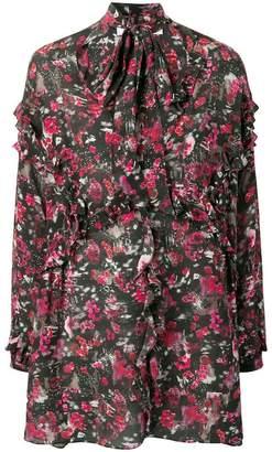 IRO patterned ruffle dress