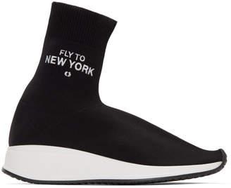 Joshua Sanders Black Fly Me To New York Sock Sneakers