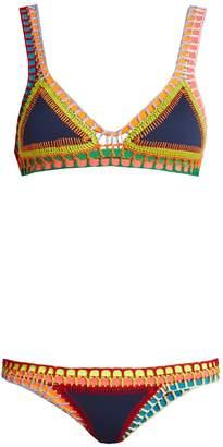 Kiini Tasmin crochet-trimmed triangle bikini