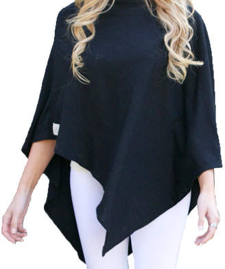"Wild Mantle Cotton Bamboo Triangle Poncho ""Dreamer Light"""