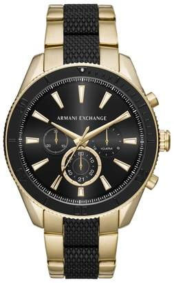 Armani Exchange Chronograph Bracelet Watch, 46mm