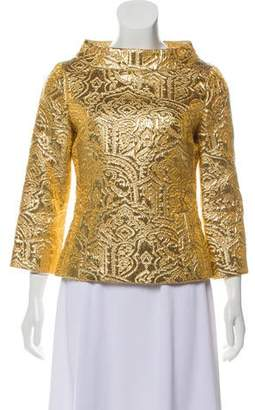 289b4c60c74c38 Michael Kors Metallic Brocade Top