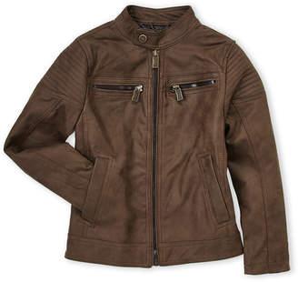 Urban Republic Boys 8-20) Brown Faux Leather Moto Jacket