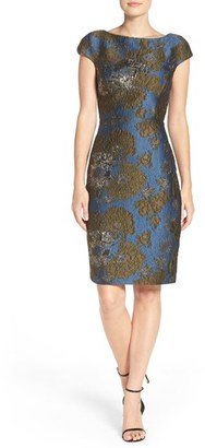 Women's Vera Wang Metallic Jacquard Sheath Dress $278 thestylecure.com
