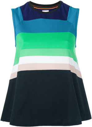 Paul Smith striped flared tank top $295 thestylecure.com