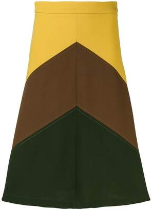 P.A.R.O.S.H. Lachix colour-block skirt