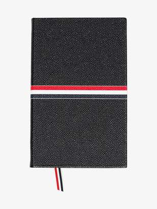 Thom Browne black large leather notebook