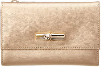 Longchamp Roseau Compact Leather Wallet
