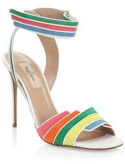 Valentino Rainbow Ankle Strap Heels