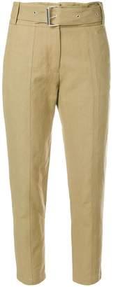 IRO belt cropped trousers