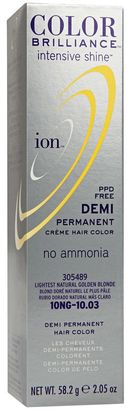 Ion Intensive Shine 10NG Lightest Natural Golden Blonde Demi Permanent Creme Hair Color $2.99 thestylecure.com