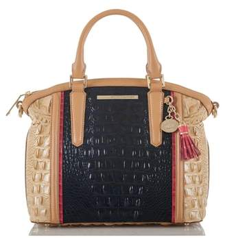 Brahmin Large Duxbury Croc Embossed Leather Satchel
