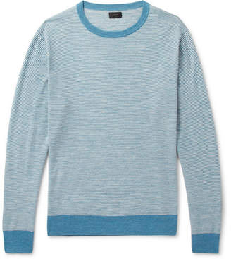 J.Crew Striped Knitted Sweater - Blue