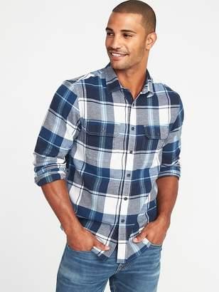 Old Navy Regular-Fit Built-In Flex Plaid Flannel Shirt for Men