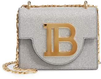 Balmain BBag 18 Glitter Leather Shoulder Bag