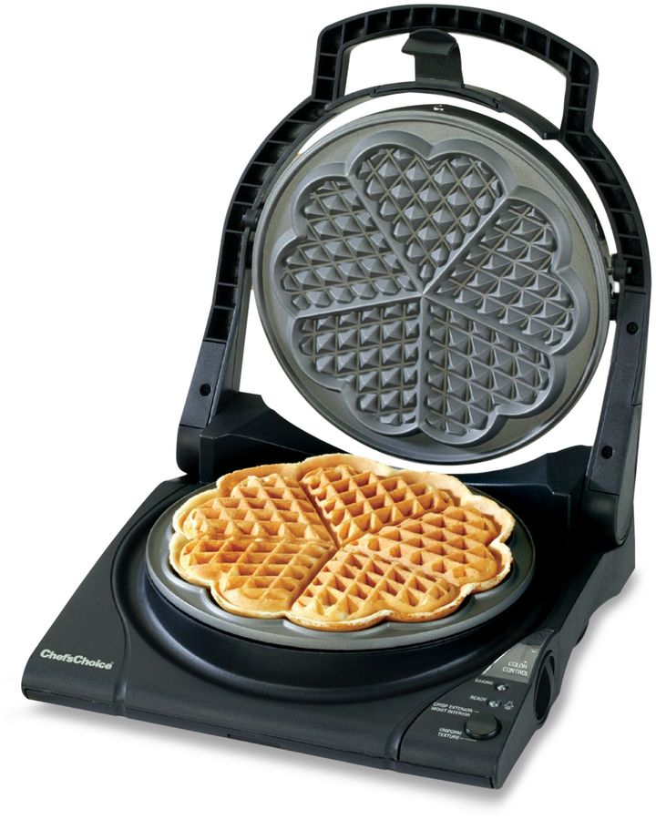 Chef's Choice WafflePro Five of Hearts Electric Waffle Maker