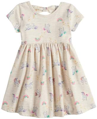 Toddler Girl Jumping Beans Printed Bow-Back Dress