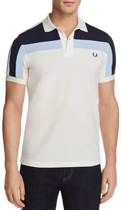 Fred Perry Color Block Pique Short Sleeve Polo Shirt