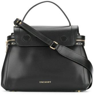 Twin-Set top flap tote bag $328.02 thestylecure.com