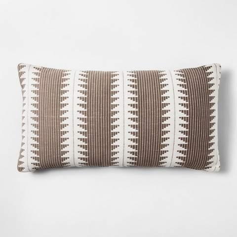 Brown Stripe Throw Pillow