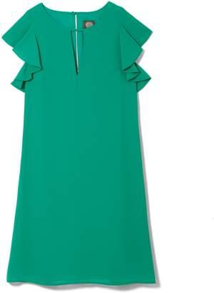 Vince Camuto Flutter-sleeve Keyhole Dress