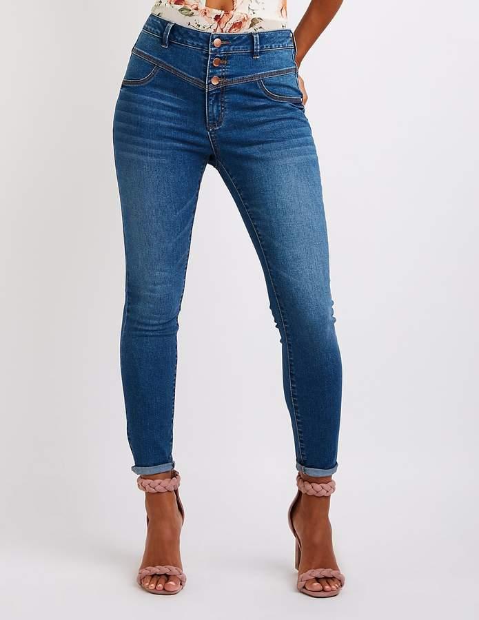 Charlotte Russe Refuge Hi-Waist Skinny Jeans