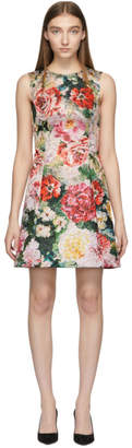 Dolce & Gabbana Multicolor Floral Peonies Dress