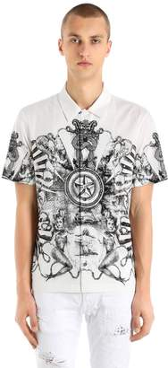 Just Cavalli Stretch Light Canvas Short Sleeve Shirt