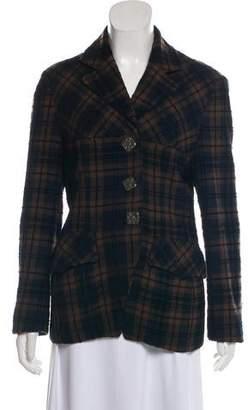 Christian Lacroix Bazar de Textured Plaid Jacket