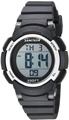 Armitron Sport Women's 45/7092BLK Digital Chronograph Resin Strap Watch