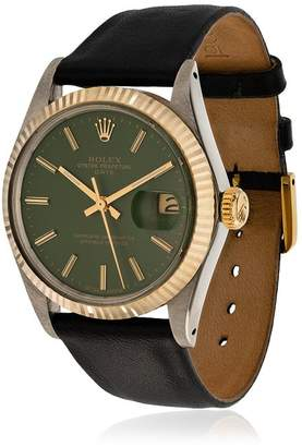 Rolex La Californienne Gilt Green Navy Oyster Perpetual Date Two-tone Watch 42mm