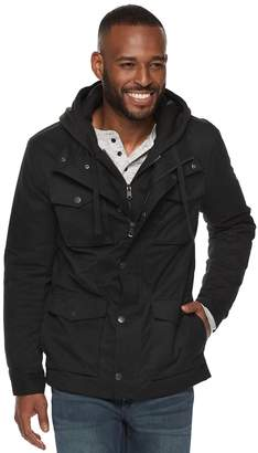 Marc Anthony Men's Sherpa-Lined Hooded Utility Jacket