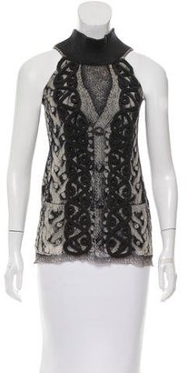 Jean Paul Gaultier Abstract Print Sleeveless Top w/ Tags $95 thestylecure.com