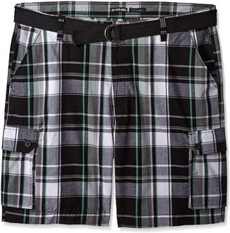 Ecko Unlimited Unltd. Men's Big and Tall Salem Plaid Cargo Short