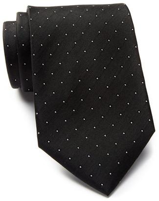 Calvin Klein Micro Reflection Dot Silk Tie $65 thestylecure.com