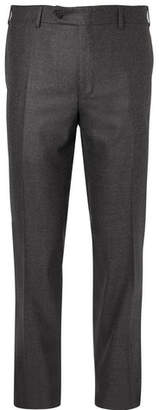 Canali Dark-Grey Stretch-Wool Trousers