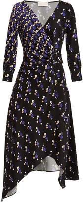 Peter Pilotto Graphic spot-print silk wrap dress