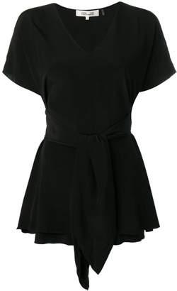 Diane von Furstenberg tied short sleeved blouse