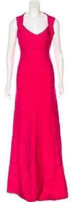 Herve Leger Sleeveless Evening Dress