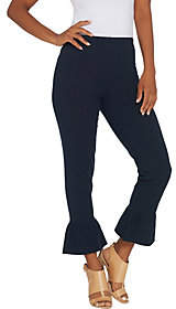 Women with Control Regular Ankle Pants w/Ruffle Bottom