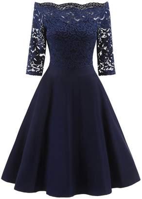d14dfba6af9b ARINLA dress ARINLA Elegant Lace Off Shoulder 3 4 Sleeves Wedding Party  Dress
