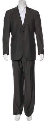 Luigi Bianchi Mantova Striped Wool Suit w/ Tags