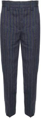 Acne Studios Trea Li Str Linen-blend Striped Trousers