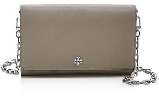 Tory Burch Robinson Chain Leather Wallet